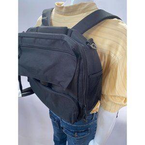 Black Nylon Computer Backpack